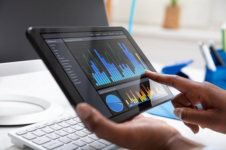 Threat analytics on tablet